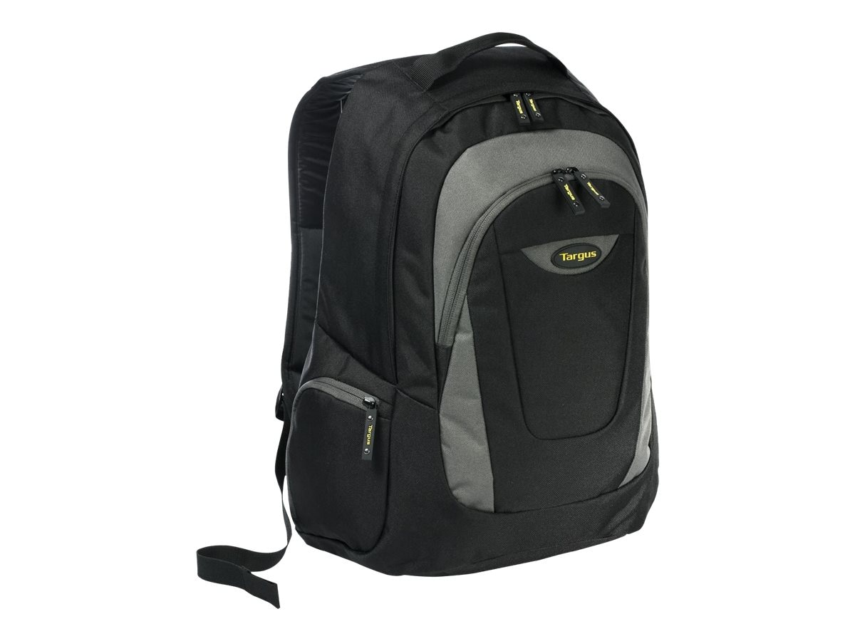 Targus Trek Backpack, 16, Black Gray Yellow, TSB193US