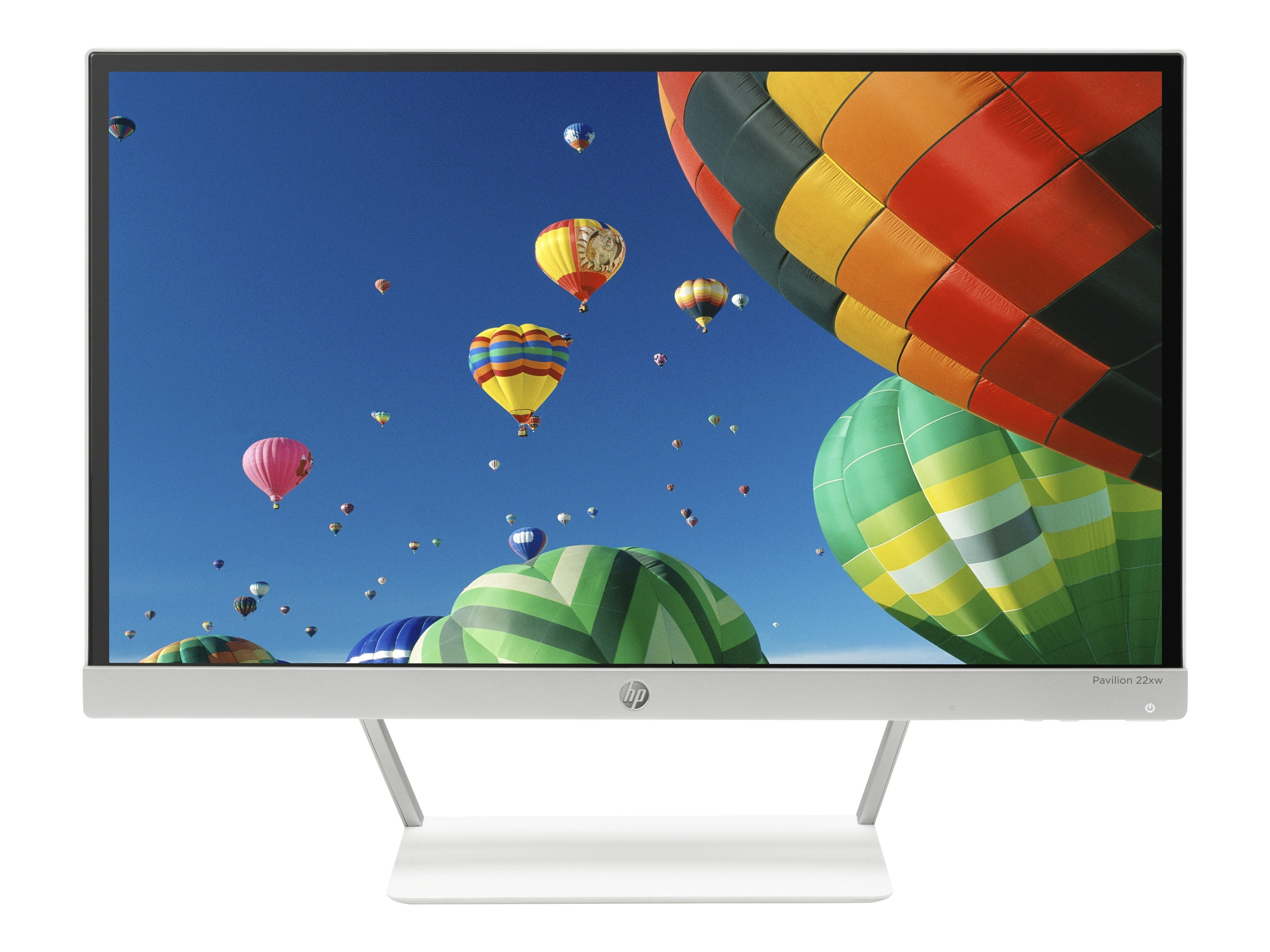 HP 21.5 Pavilion 22xw Full HD IPS LED-LCD Monitor, Black Silver, J7Y67AA#ABA, 18924885, Monitors - LED-LCD