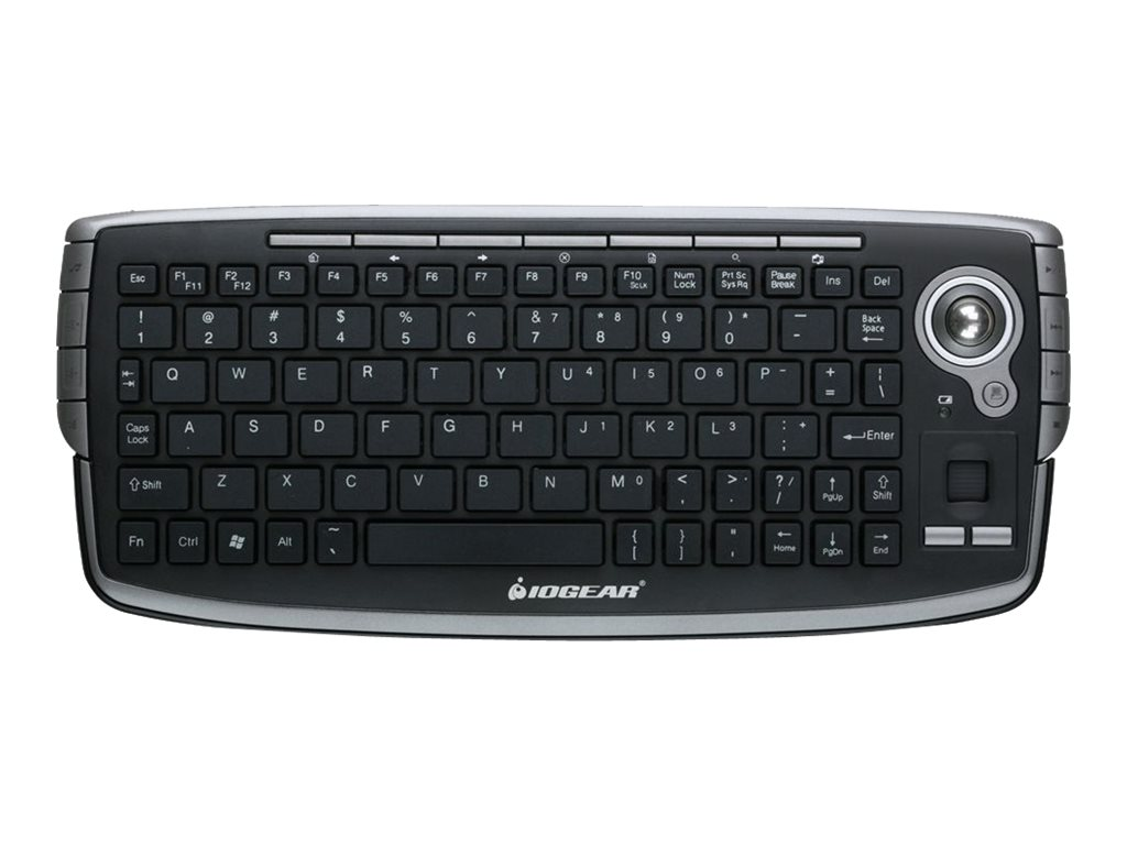 IOGEAR 2.4GHz Wireless Compact Keyboard w  Optical Trackball Scroll Wheel, GKM681R, 12677924, Keyboards & Keypads