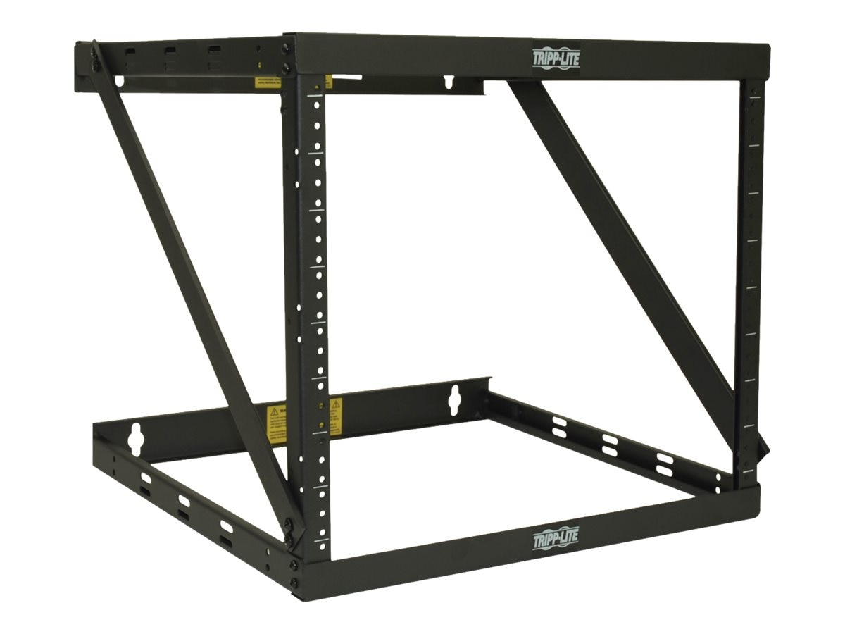 Tripp Lite SmartRack 8U 12U 22U Expandable Very Low-Profile Patch-Depth Wall-Mount 2-Post Open-Frame Rack, SRWO8U22MD