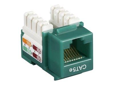 Black Box Connect CAT5e RJ-45 Keystone Jack, Unshielded, Green