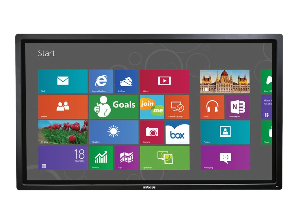 InFocus 80 BigTouch 4K Ultra HD LED-LCD Touchscreen Display, Black, INF8012, 31890886, Monitors - Large-Format LED-LCD