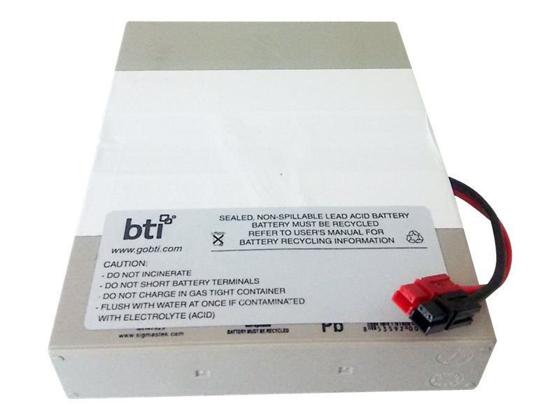 BTI RBC62 Replacement Battery for Tripp Lite UPS SMART500RT1U SMX500RT1U, RBC62-1U-BTI