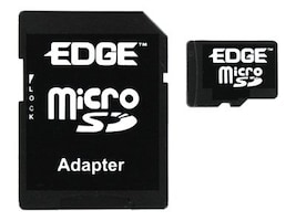 Edge 1GB Micro Secure Digital Card with Adapter, PE214470, 7997552, Memory - Flash