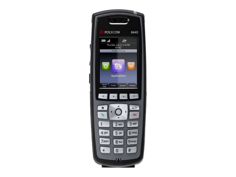 SpectraLink Spectralink 8440 Handset Black (Battery, Charger Sold Separately), 2200-37150-001, 13600208, Telephones - Business Class