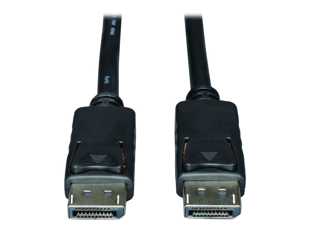 Tripp Lite DisplayPort M M Cable with Latches, Black, 30ft