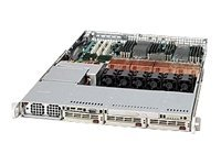 Supermicro Chassis, 1U Rackmount, Quad AMD, 3x3.5 HS U320 160 SCSI, DVD-ROM, 1000W CS PS, Beige, CSE-818S+-1000, 7959901, Cases - Systems/Servers