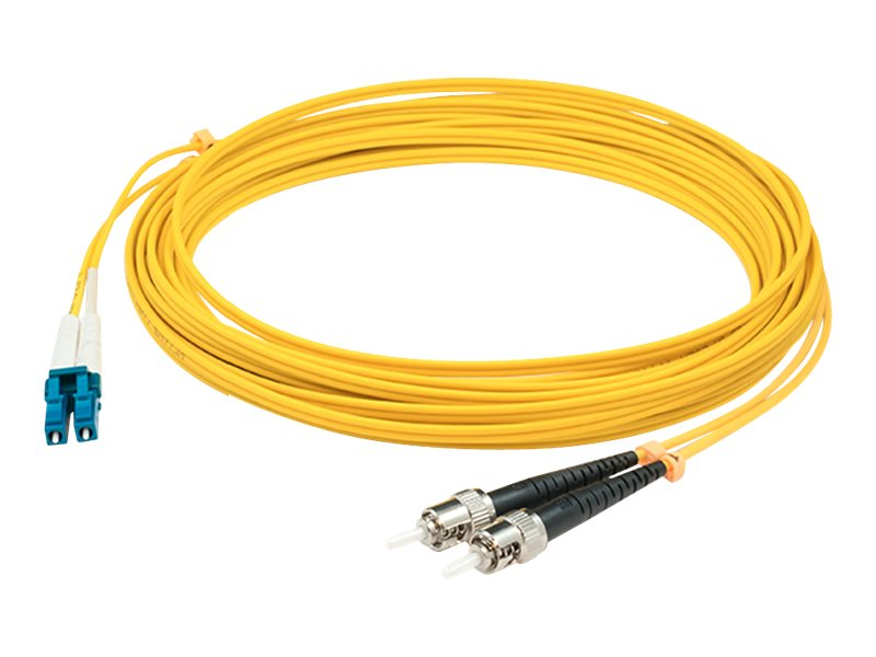 ACP-EP LC to ST 9 125 OS1 Duplex Patch Cable, Yellow, 30m