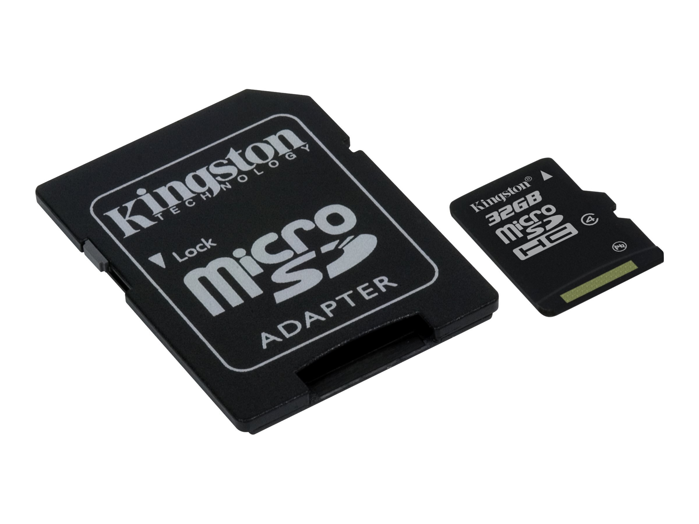 Kingston 32GB microSDHC Flash Memory Card, Class 4, SDC4/32GBCP, 14711807, Memory - Flash