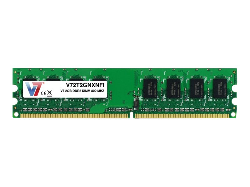 V7 2GB PC2-6400 240-pin DDR2 SDRAM DIMM, V72T2GNXNFI