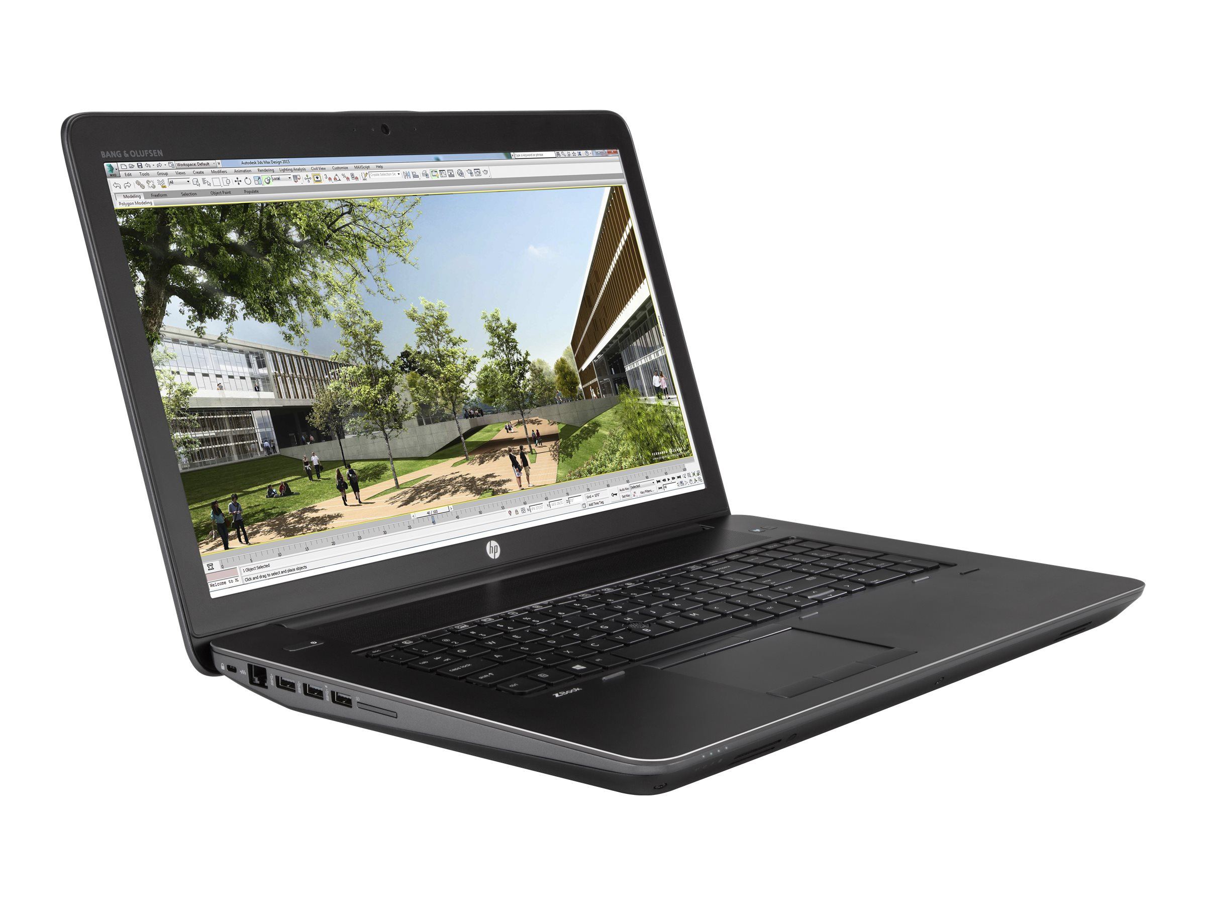 HP ZBook 17 G4 Core i7 2.8GHz 8GB 256GB W10P64, 1NL40UT#ABA