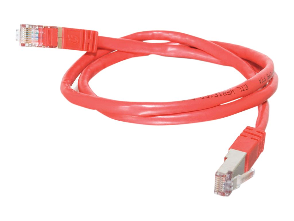 C2G Cat5e Shielded Molded Patch Cable Red 25ft, 27267, 6091871, Cables