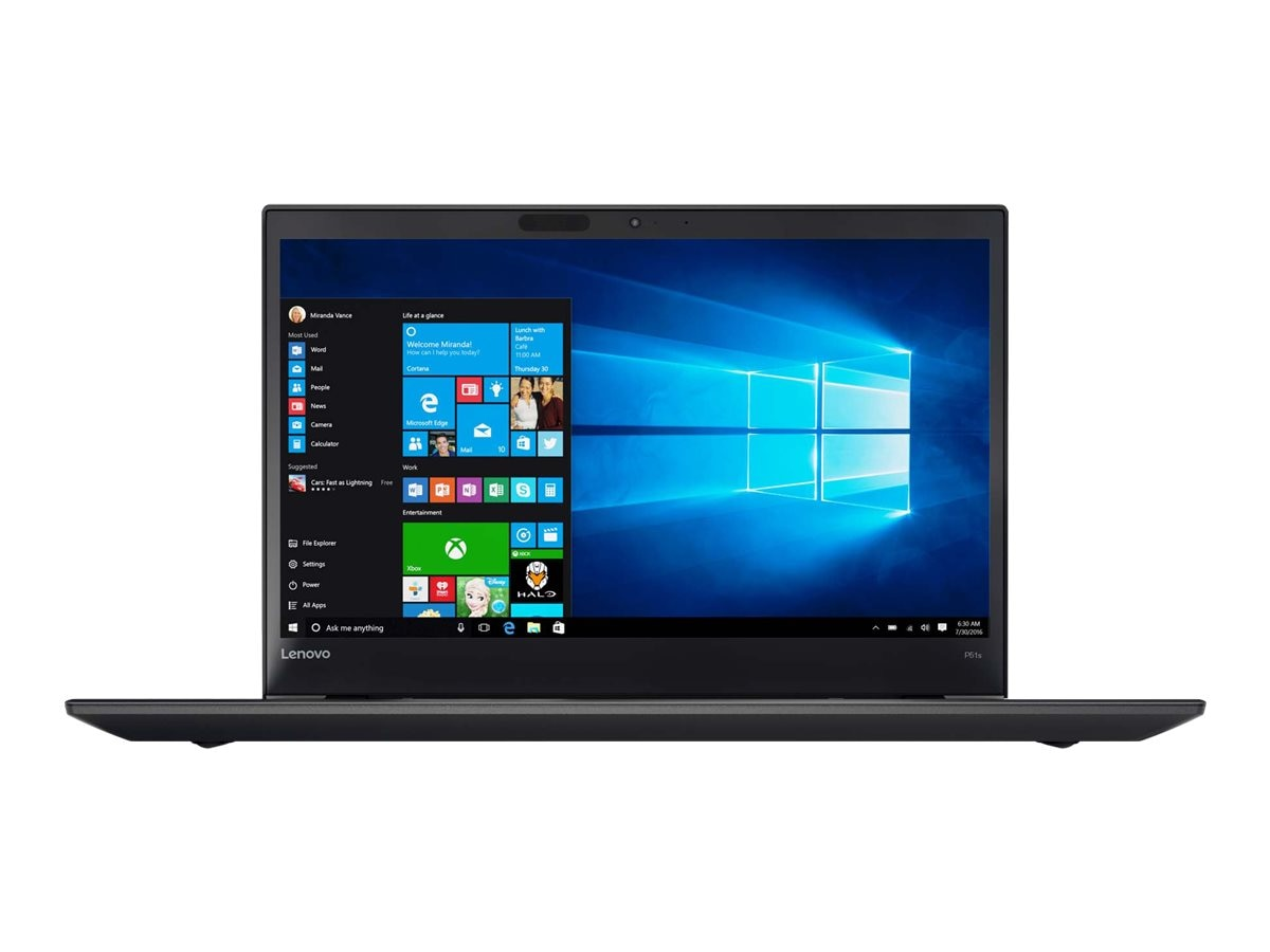 Lenovo TopSeller ThinkPad P51s Core i7-7500U 2.7GHz 8GB 500GB ac BT FR WC 4C+3C 15.6 FHD MT W10P64