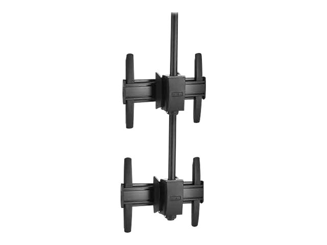 Chief Manufacturing FUSION Medium Ceiling Mounted 1 x 2 Stacker, Black, MCM1X2U