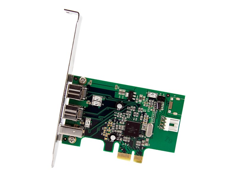StarTech.com 3 Port 2b 1a PCI Express 1394 FireWire Adapter Card, PEX1394B3