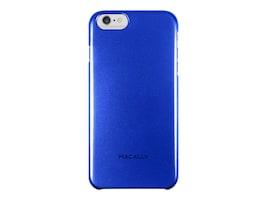 Macally Snap-On Plastic Polycarbonate Case for iPhone 6 Plus, Blue, SNAPP6LBL, 31202078, Carrying Cases - Phones/PDAs