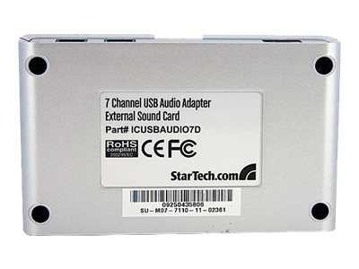 StarTech.com 7.1 USB Audio Adapter External Sound Card w  SPDIF Digital Audio, ICUSBAUDIO7D