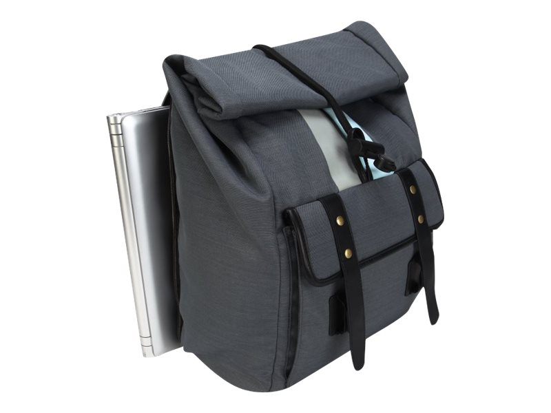 Targus 15.6 Geo Roll Top Backpack, Gray Black, TSB80404, 17402735, Carrying Cases - Other