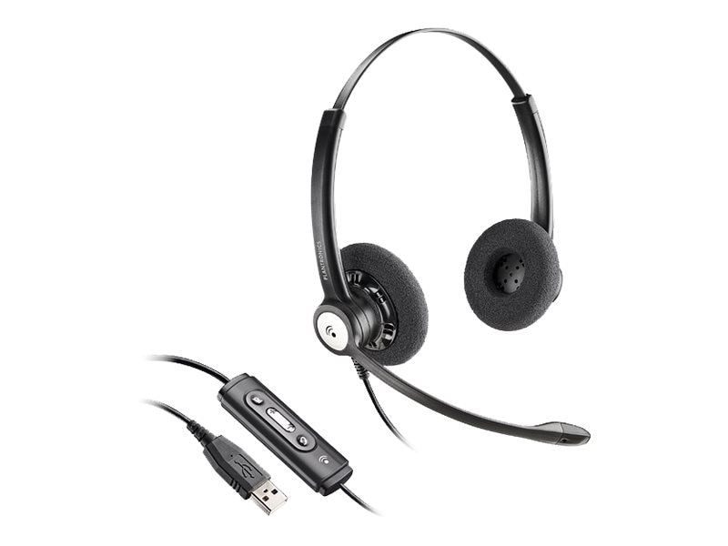 Plantronics HW121-USB Binaural NC Headset, 202257-01