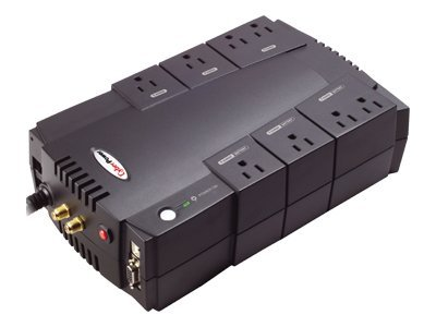 CyberPower 800VA 450W UPS AVR (8) Outlet RJ-11 RJ-45, EXCLUSIVE Buy - Save $15