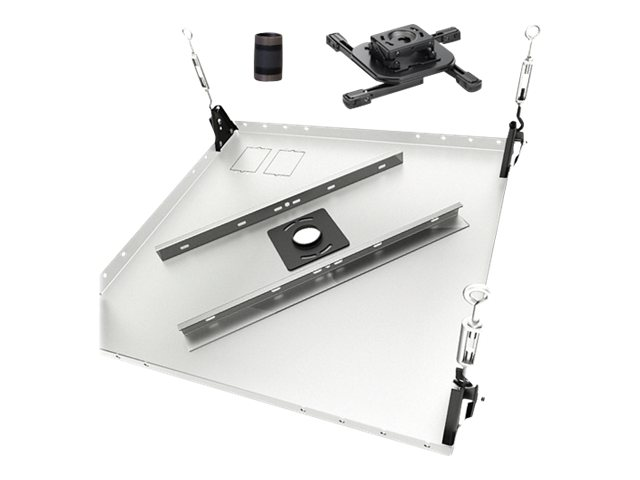 Chief Manufacturing Mini Projector Mount, Suspended Ceiling Tile Kit, 3 Fixed Extension Column