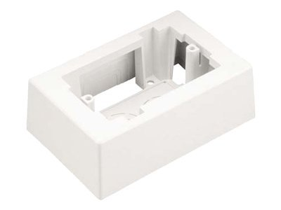 Panduit Single Gang Low Voltage 1-piece Outlet Box with Adhesive, JB1EI-A, 10537995, Premise Wiring Equipment