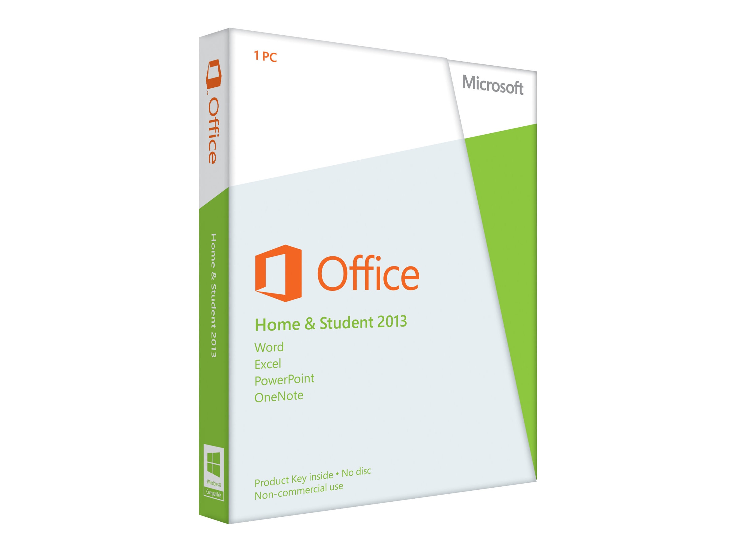 Microsoft Office Home and Student 2013 32-bit x64 English Medialess, 79G-03550, 15266098, Software - Office Suites