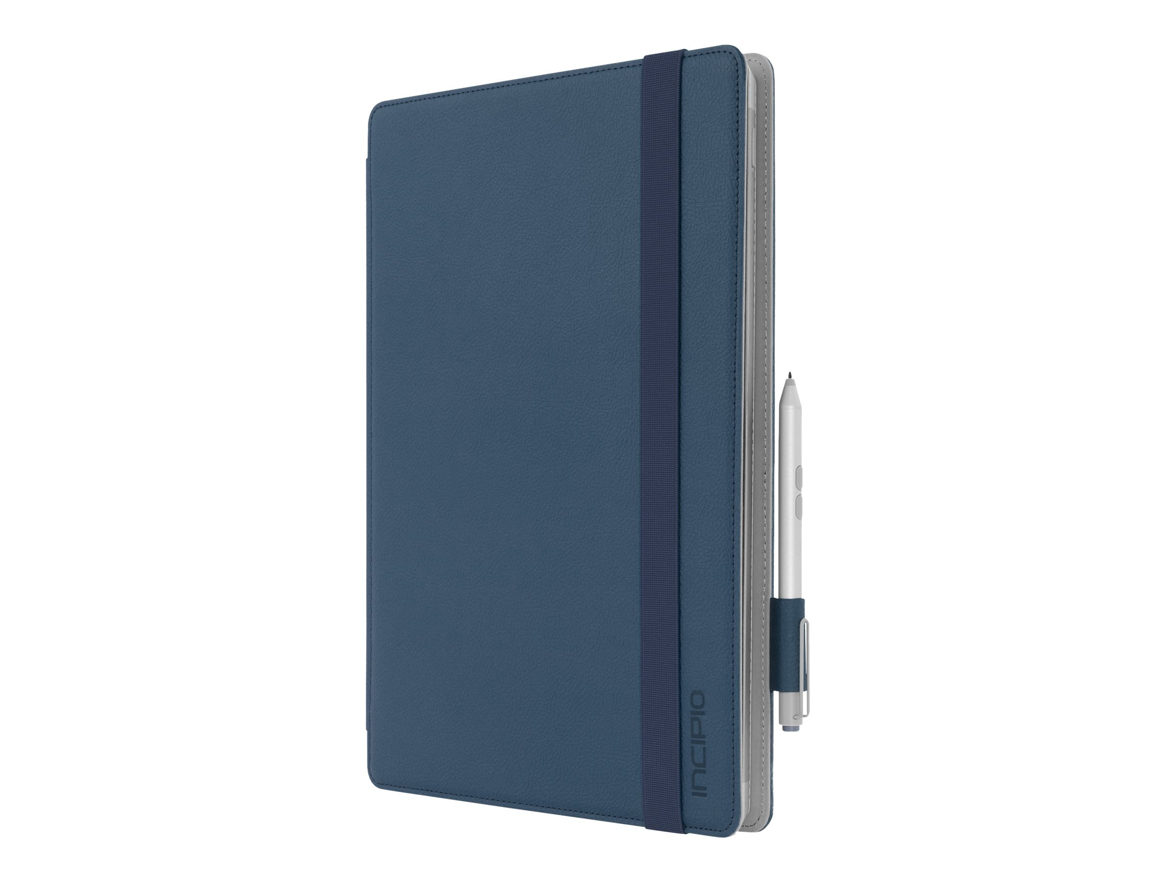 Incipio Roosevelt Slim Folio w  Snap-On Type Cover Compatibility for Microsoft Surface Pro 3 & 4, Blue, MRSF-070-BLU, 31201446, Carrying Cases - Tablets & eReaders