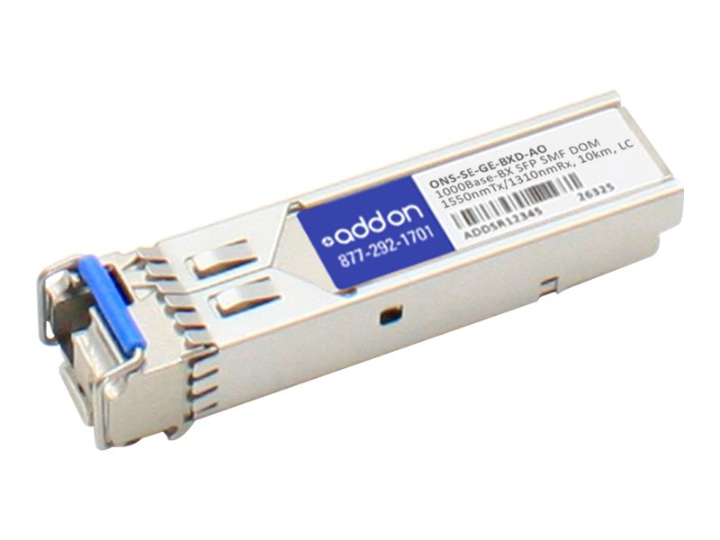 ACP-EP SFP 10KM BX ONS-SE-GE-BXD TAA XCVR 1-GIG BIDI DOM LC Transceiver for Cisco, ONS-SE-GE-BXD-AO