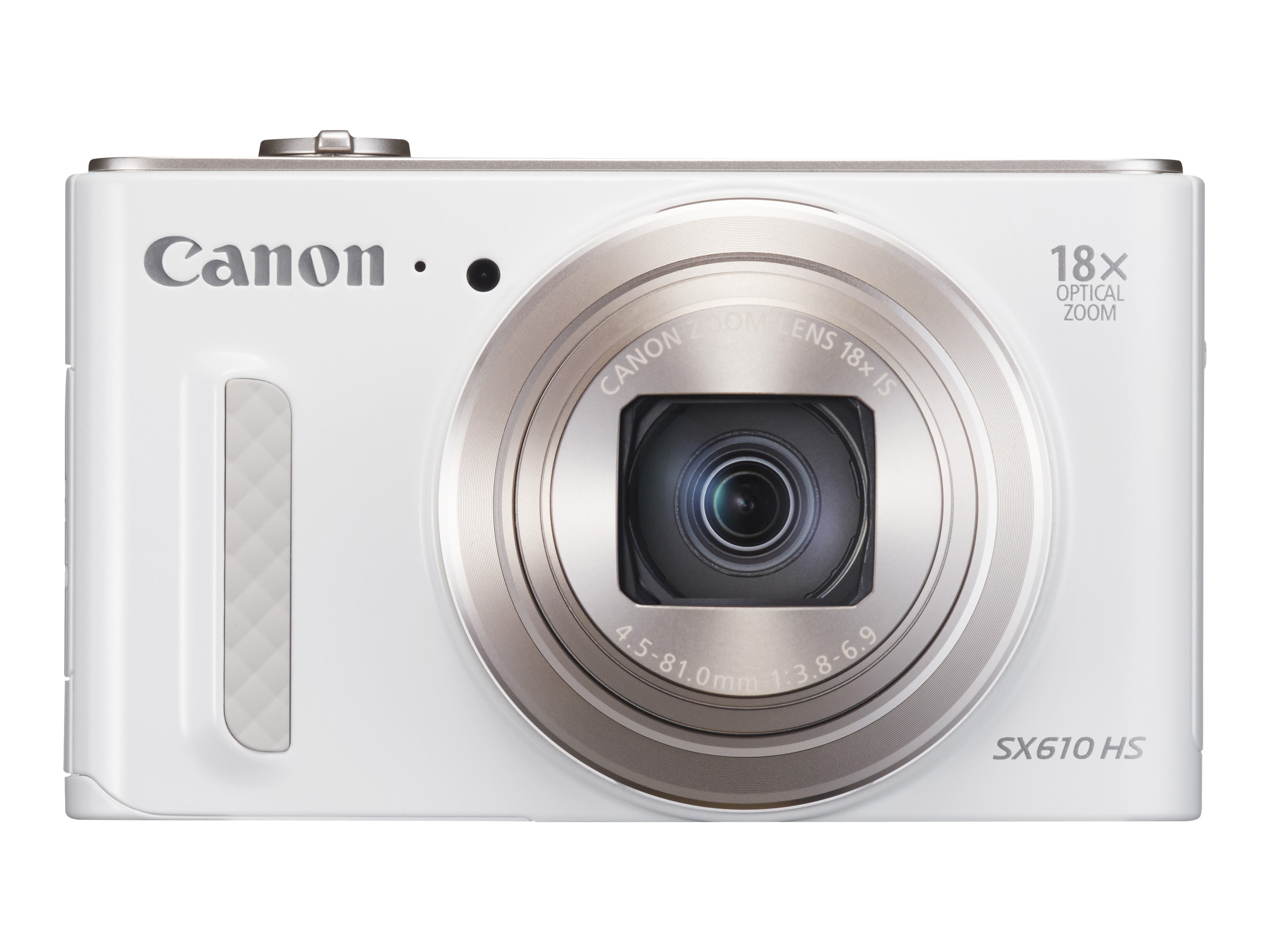 Canon Powershot SX610 HS Camera, 20.2MP, 18x Zoom, White