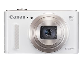 Canon Powershot SX610 HS Camera, 20.2MP, 18x Zoom, White, 0112C001, 18524283, Cameras - Digital