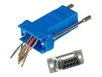 C2G RJ-45 DB-9F Modular Adapter, Blue, 02942, 7458399, Adapters & Port Converters