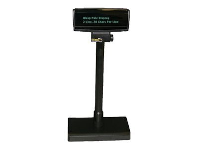Logic Controls PD3000 Pole Display Black 5MM 2X20 USB 120V Adapter, PD3000-U-BK, 6109875, POS Pole Displays