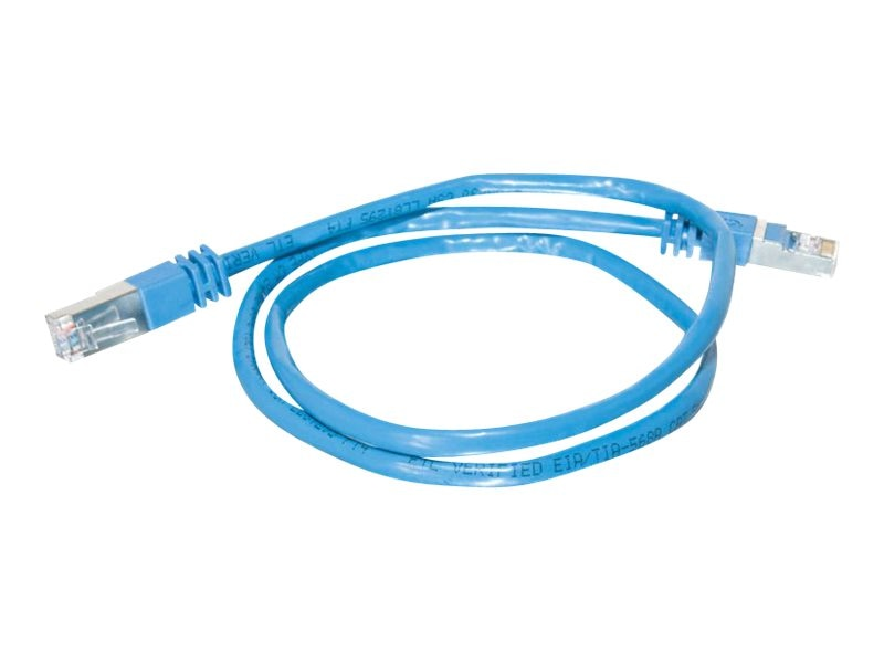 C2G Cat5e Shielded Patch Cable, Blue, 25ft