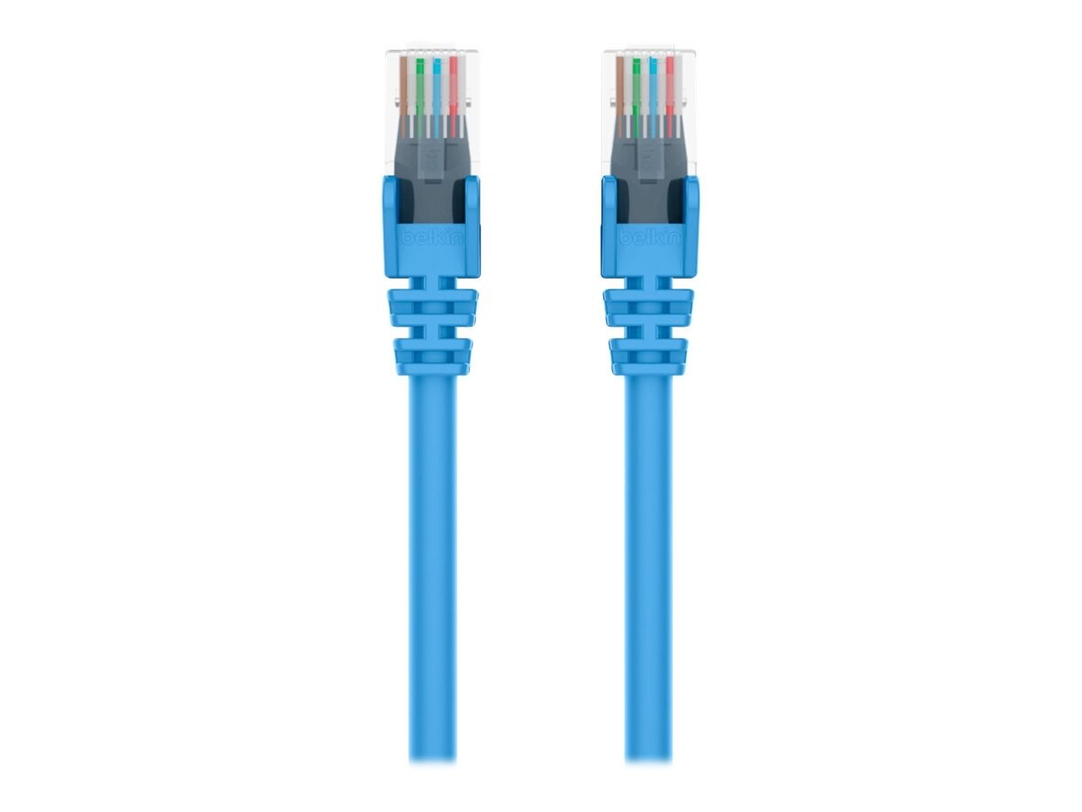 Belkin Cat6 UTP Patch Cable, Blue, Snagless, 3ft, Bag and Label