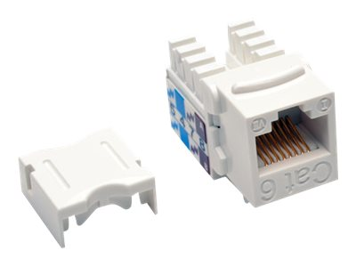 Tripp Lite Cat6 Cat5e 110-Style Punch Down Keystone Jack, White (25-pack), N238-025-WH, 21327133, Premise Wiring Equipment