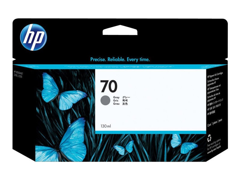 HP 70 Gray 130 ml Ink Cartridge for HP DesignJet Printers, C9450A, 7130431, Ink Cartridges & Ink Refill Kits