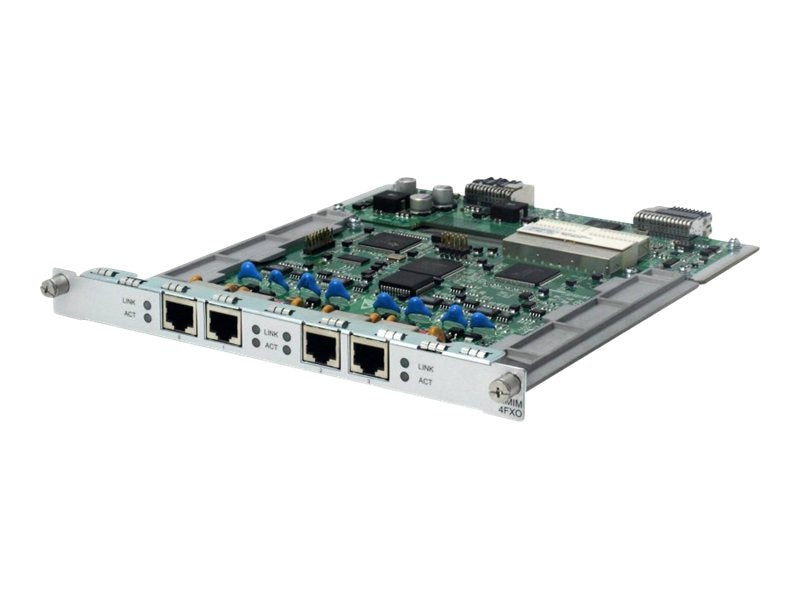 HPE MSR 4-port FXO HMIM Module, JG447A, 16332069, Network Voice Router Modules