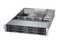 Supermicro SuperChassis 826BE26 2U RM (2x)Intel AMD 12x3.5 HS Bays 7xExpansion Slots 3xFans 2x1280W RPS