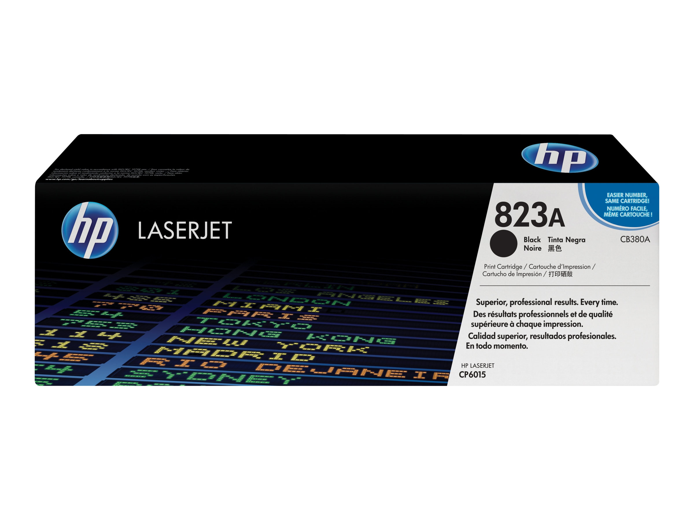 HP 823A (CB380A) Black Original LaserJet Toner Cartridge for HP Color LaserJet CP6015 Printers, CB380A