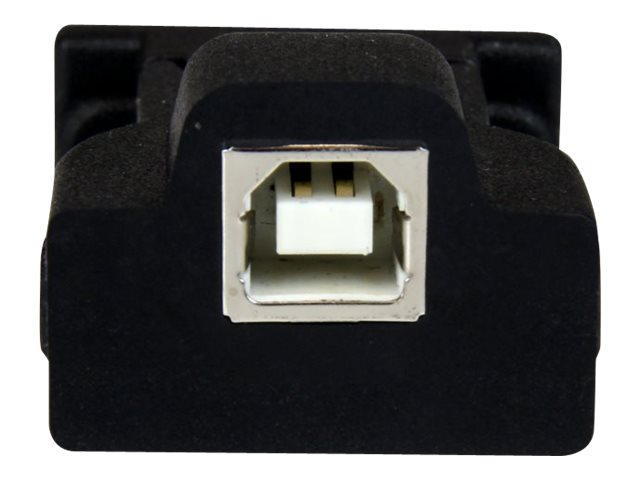StarTech.com 1 Port USB to RS232 DB9 Serial Adapter with Detachable 6ft USB A to B Cable, ICUSB232D