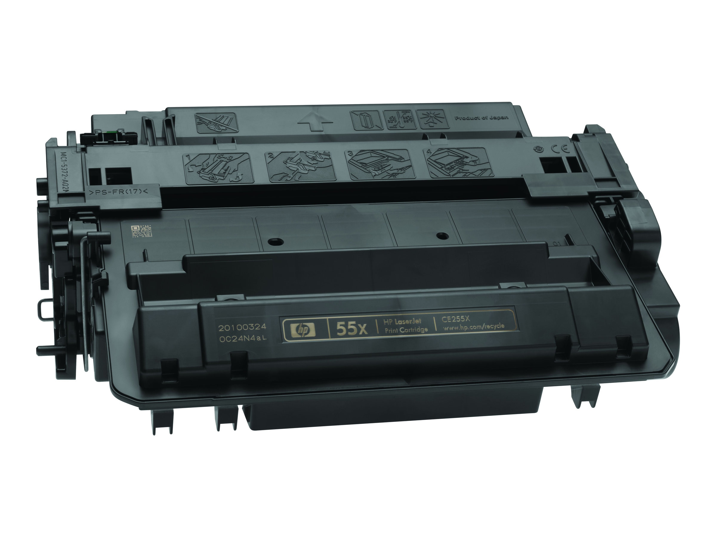 HP 55X (CE255X) High Yield Black Original LaserJet Toner Cartridge for HP LaserJet P3015 Series, CE255X, 9916541, Toner and Imaging Components