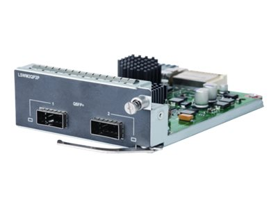 HPE 5510 2-port QSFP+ Module, JH155A, 30945937, Network Device Modules & Accessories