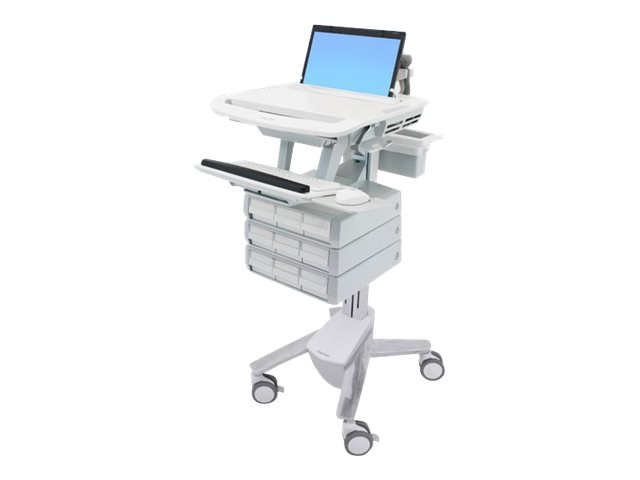 Ergotron StyleView Laptop Cart, 9 Drawers, SV43-1190-0, 18024570, Computer Carts - Medical
