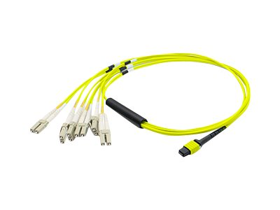 ACP-EP MPO to 6xLC Duplex Fanout SMF Patch Cable, Yellow, 2m, ADD-MPO-6LC2M9SMF