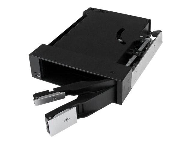 StarTech.com Dual Bay 5.25 Trayless Hot Swap Mobile Rack Backplane for 2.5 & 3.5 SATA SAS HDD or SSD w  Fan, HSB2535SATBK