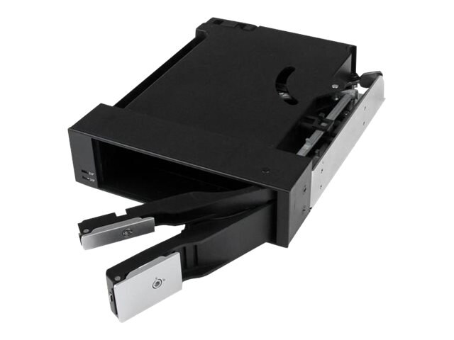 StarTech.com Dual Bay 5.25 Trayless Hot Swap Mobile Rack Backplane for 2.5 & 3.5 SATA SAS HDD or SSD w  Fan