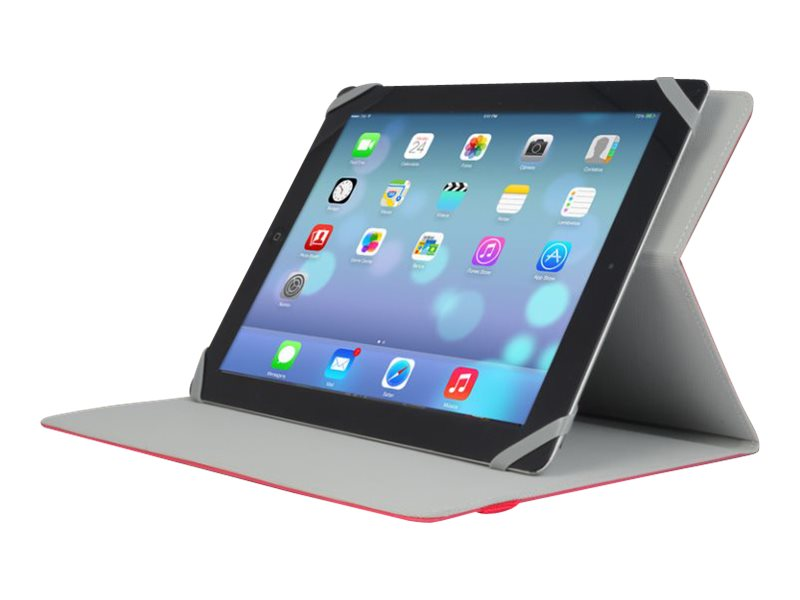 V7 Slim Universal Folio Case for iPad or 10.1 Tablet, Red, TUC20-10-RED-14N, 16888841, Carrying Cases - Tablets & eReaders