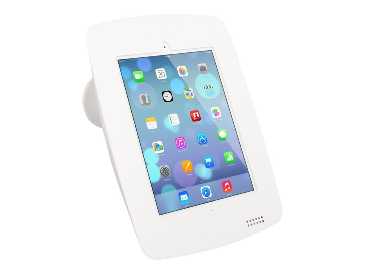 Joy Factory Elevate Aloft Wall Countertop Mounted Top Mounted Kiosk for iPad Air Air2, iPad 2 3 4, White