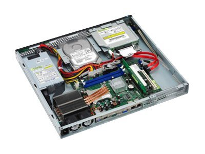 Asus Server Barebones RS100-X5 PI2 Suppo Core 2 Duo Xeon 3000, 2GB Max, 2xSATA, 1066 800MHz, RS100-X5/PI2, 8234397, Barebones Systems